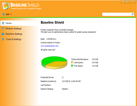 Baseline Shield UI 1, Protect Computer from Unwanted Change