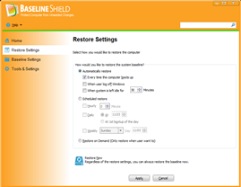 Baseline Shield UI 2, Protect Computer from Unwanted Change