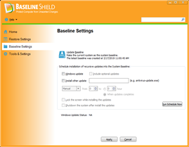 Baseline Shield UI 3, Protect Computer from Unwanted Change