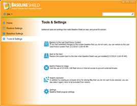 Baseline Shield UI 4, Protect Computer from Unwanted Change