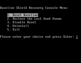 Baseline Shield Pre-OS, Protect Computer from Unwanted Change