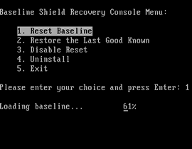 Baseline Shield Pre-OS 2, Protect Computer from Unwanted Change